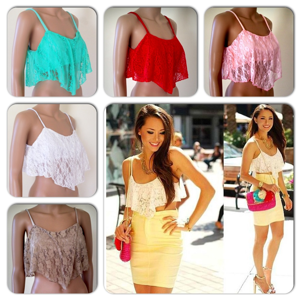 Bustier Midriff Crop Top Bralette Lace Shirt Bandeau   eBay