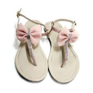 Bow Sandals - Cara - Polyvore