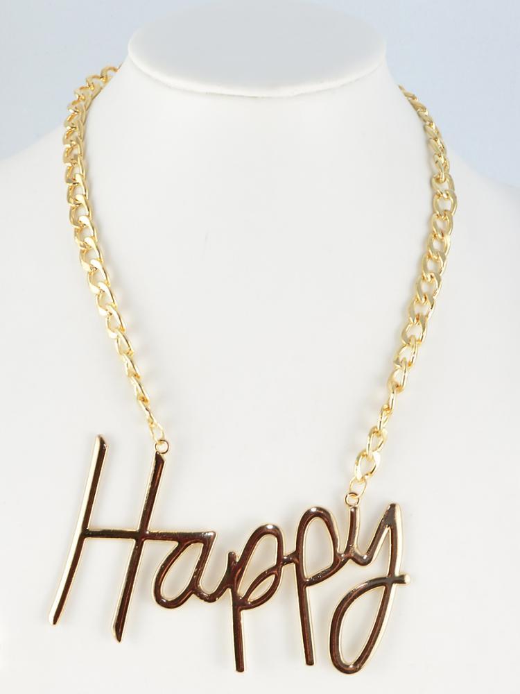 Happy Letter Necklace   Choies