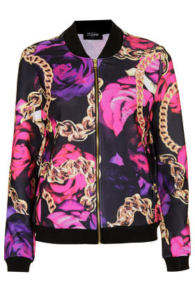 **Roses and Chains Bomber by Jaded London - Jackets & Coats - Clothing - Topshop