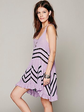Intimately Free People  Voile and Lace Trapeze Slip at Free People Clothing Boutique