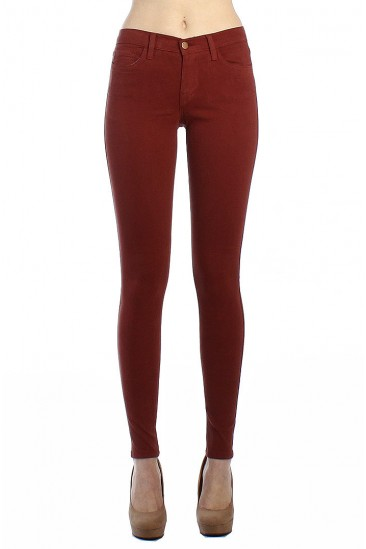 LoveMelrose.com From Harry & Molly | 5POCKET SKINNY JEANS-WINE - DENIM PANTS - BOTTOMS