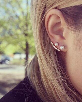 jewels ear cuff pearl pearl earrings