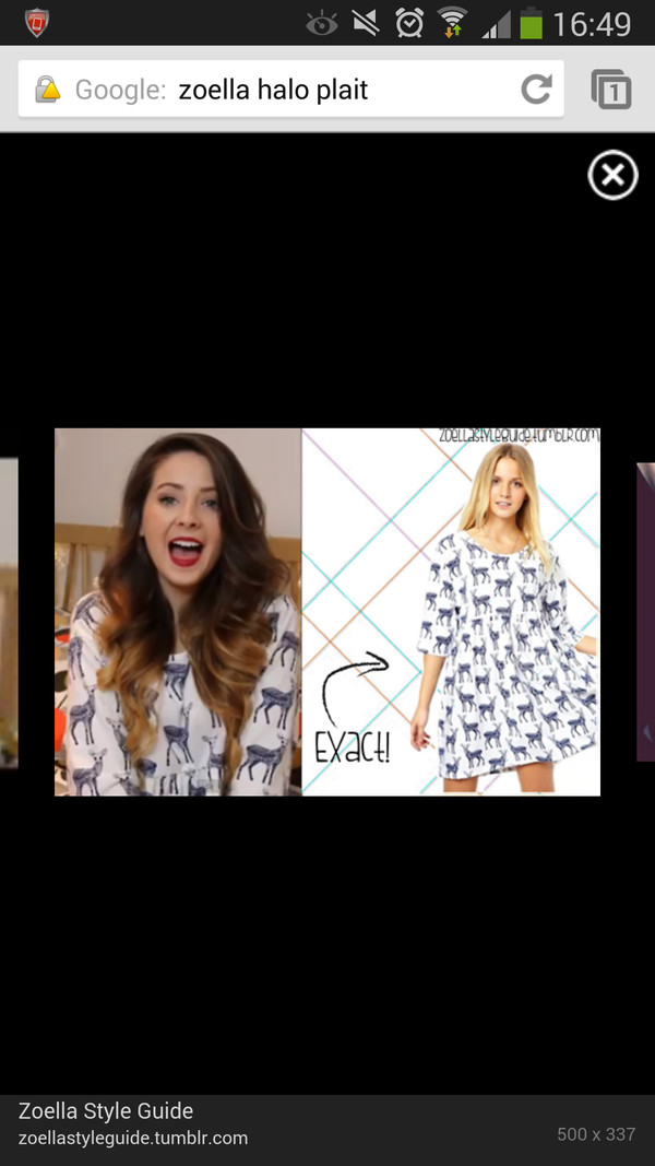 dress zoella deer pattern white dress loose