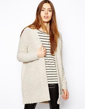 ASOS | ASOS Longline Jacket in Fluffy Texture at ASOS
