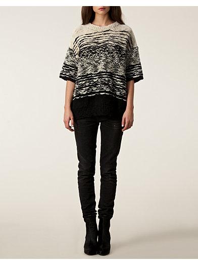 Kailey Knitted Jumper - Iro - Hvid - Trøjer - Tøj - Kvinde - Nelly.com
