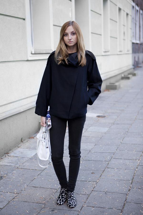 fashion mugging coat shoes bag pants sweater