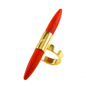 Spike Ring Red