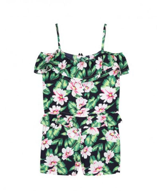 jumpsuit romper floral fashion blogger
