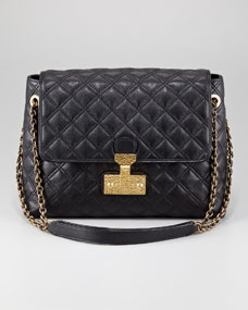 Marc Jacobs Single Baroque Hammered Shoulder Bag, Extra Large - Bergdorf Goodman