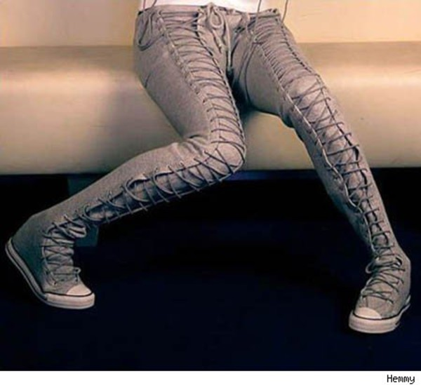 shoes jeas converse love legs lace up willow smith jeans grey lace-up shoes extended pants grey leggings