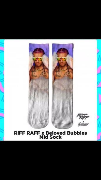 socks riff raf mid socks bubbles celebrity celebrity socks