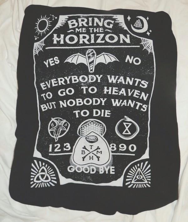 shirt black bring me the horizon bring me the horizon female top hospital for souls ouija board shirt ouija board black top graphic tee