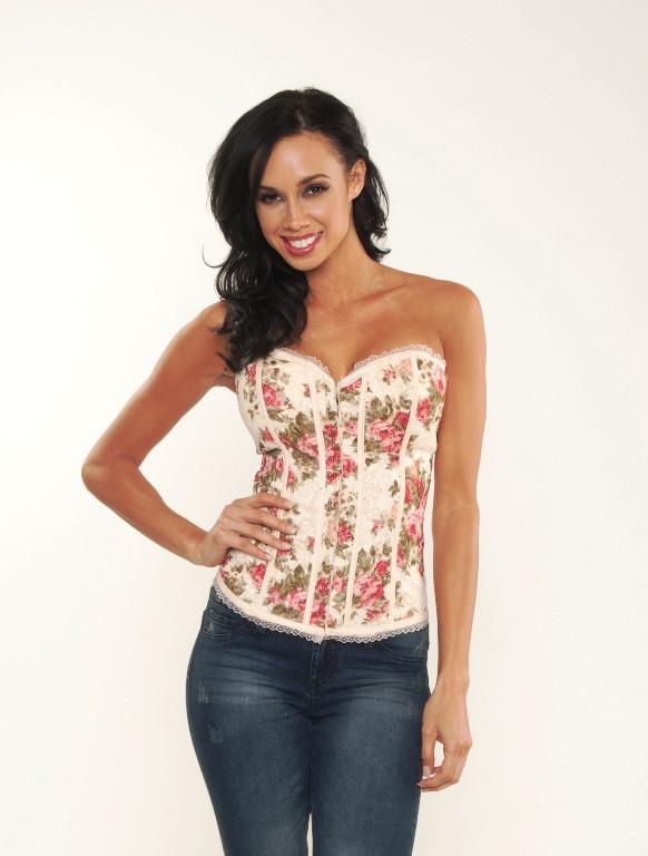 Floral Corset | Affordable Junior Clothing & Plus Sized Dresses | Shimmer