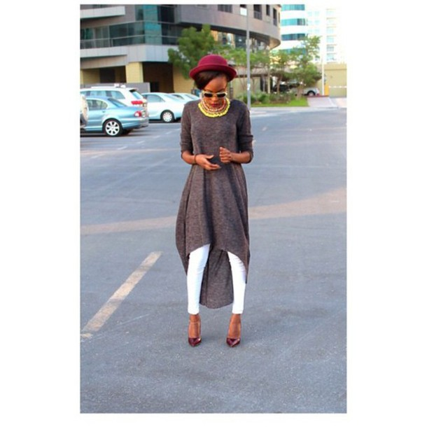 blouse grey sweater