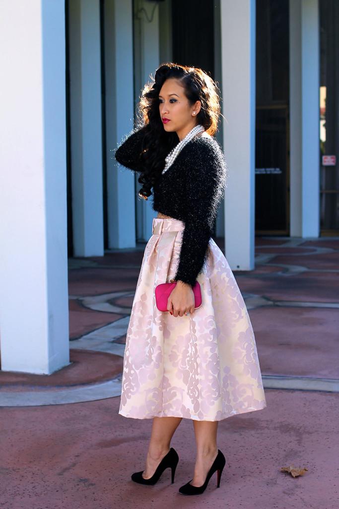 Custom: The Damask Midi Skirt - KTRcollection