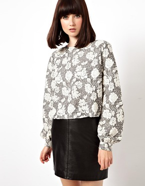 ASOS | ASOS Shell Top in Heavy Textured Lace at ASOS