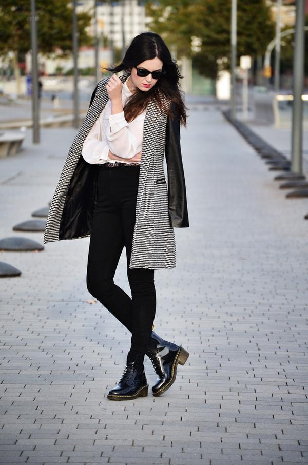 views by laura coat shirt jeans shoes sunglasses