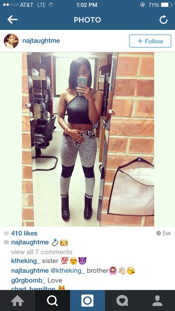jeans leather patches style acid wash black jeans