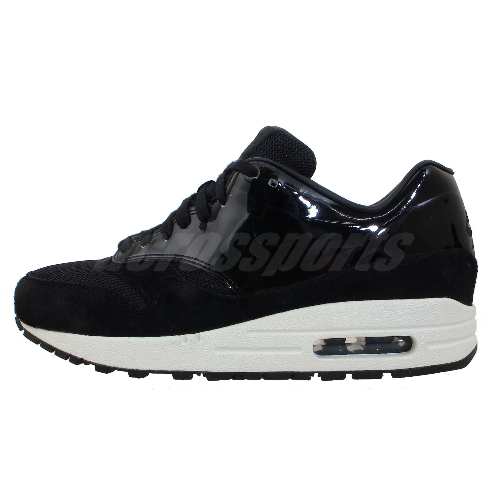 Nike Wmns Air Max 1 VT QS Black Patent Womens Running Shoes 90 Limited Edition   eBay