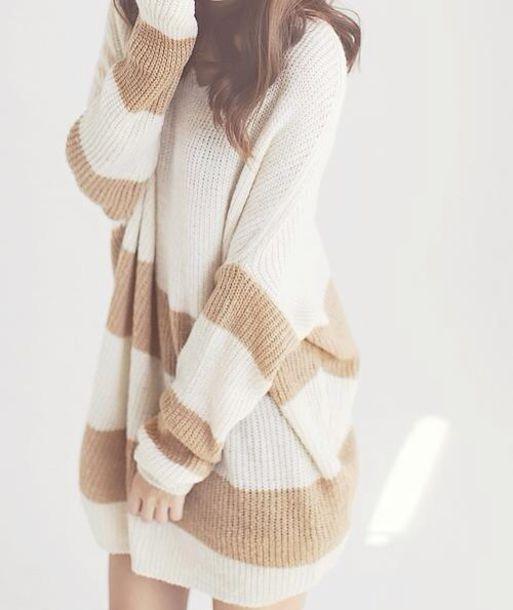 sweater sweater dress winter sweater korean fashion korean style japan japanese fashion asian white dress brown dress knitted dress