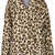 Leopard Borg Ovoid Coat - Jackets & Coats - Sale  - Sale & Offers - Topshop