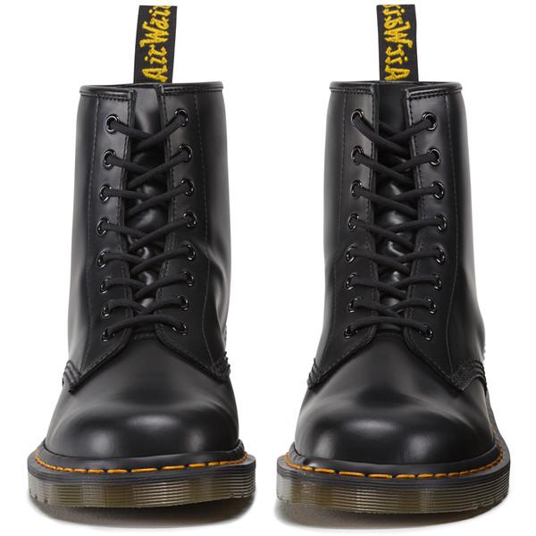 Dr Martens 1460 8 Eye Boot in Smooth Black - Dr. Martens - Polyvore