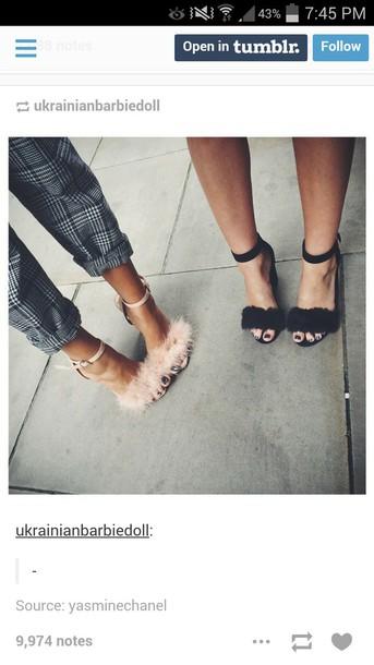 shoes feathers pants mid heel pumps fluffy fluffy heels sandal heels high heel sandals nude nude heels nude sandals prom cute dressy trendy