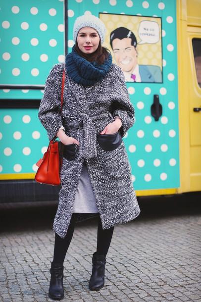 kapuczina blogger skirt shoes sweater jewels bag coat