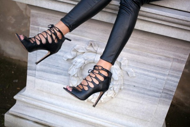shoes sandra willer heels lace up