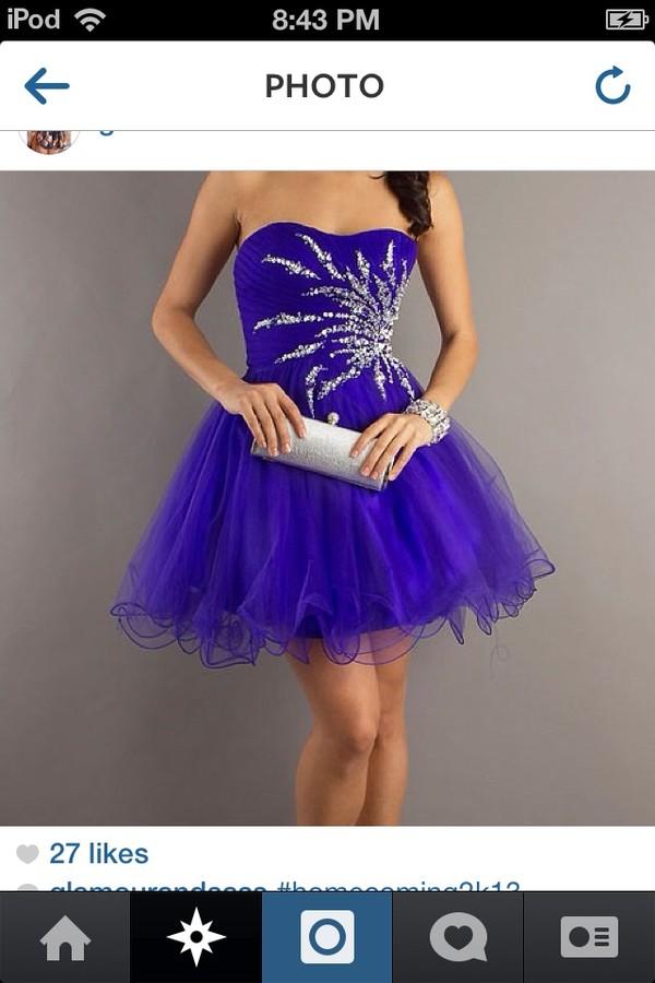 dress purple dress short dress strapless dress blue dress sparkle