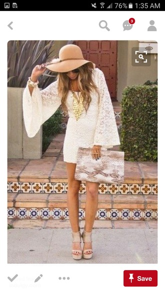 dress white dress white lace lace dress floral