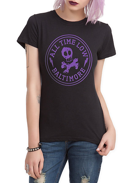 All Time Low Baltimore Girls T-Shirt | Hot Topic