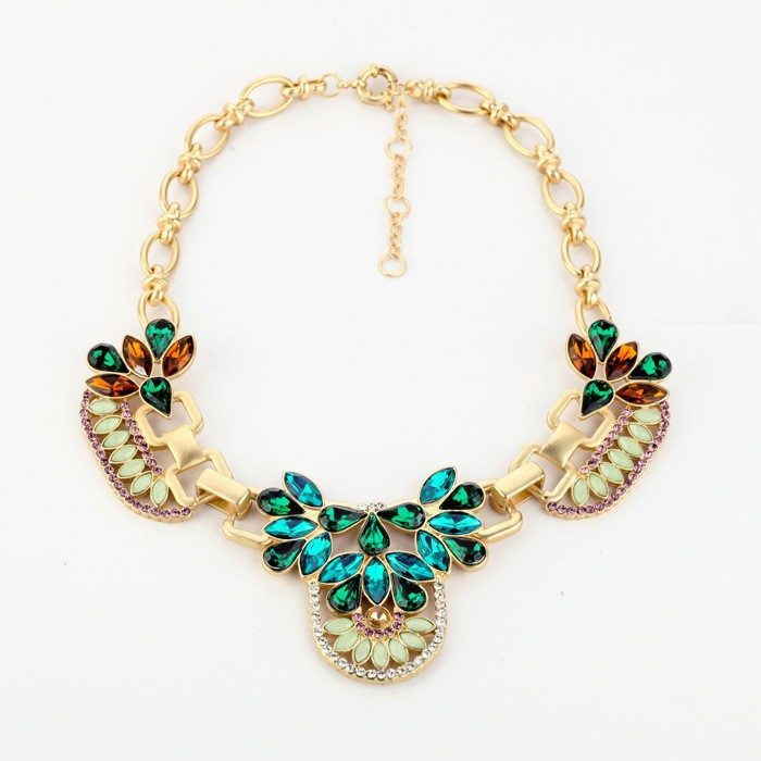 #0439 Free Shipping 2013 fashion trendy J C chain Europe bib Romantic choker chunky Necklace statement jewelry for women-in Chain Necklaces from Jewelry on Aliexpress.com