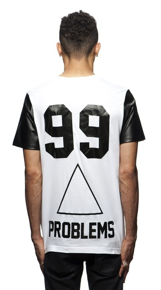 shirt 99 problems white leather sleeves jay z