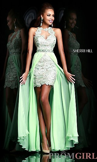 Prom Dresses, Celebrity Dresses, Sexy Evening Gowns - PromGirl: Sherri Hill High Low Prom Dress