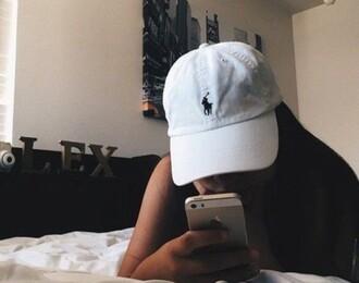 hat ralph lauren white women's cap