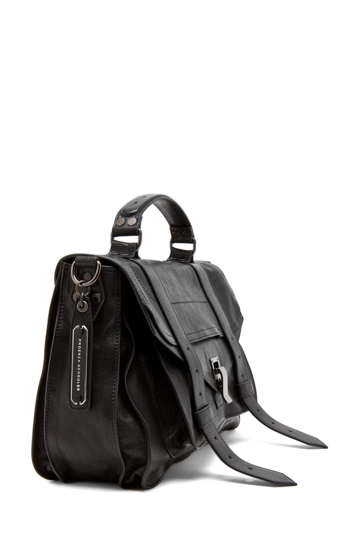 Proenza Schouler|Medium PS1 Leather Satchel in Black