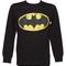 Men's black speckled classic logo batman sweater from fabric flavours : truffleshuffle.com