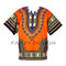 New african dashiki shirt,unisex,blouse,women, orange,one size, fits up to xxl