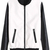 ROMWE | Color Block Zippered Elastic Black-white Jacket, The Latest Street Fashion