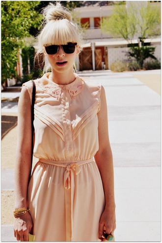 fancy tree house vintage pink dress brown dress dress
