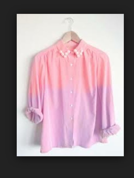 blouse purple pink
