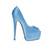 Turquoise Peep Toe Pump | Yallure