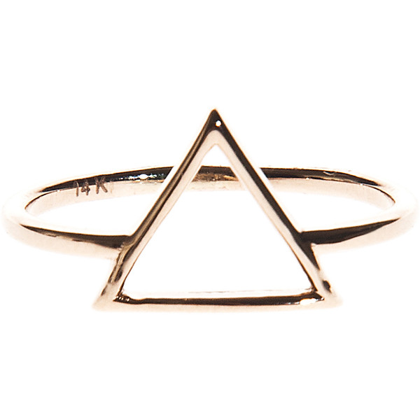 ART YOUTH SOCIETY Triangle Gold 14 carat gold ring - Polyvore