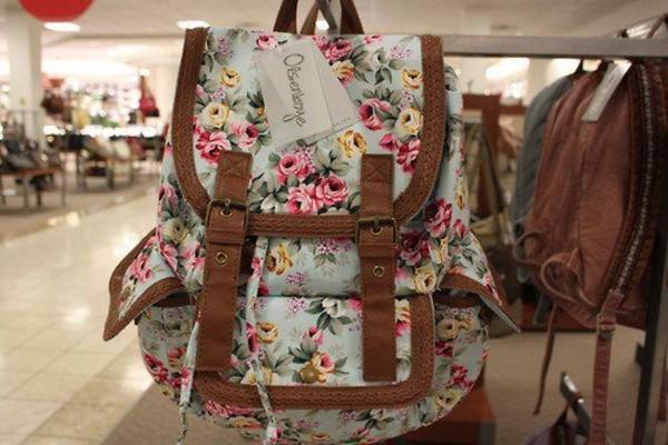 bag flowers floral floral cute beautiful pretty back to school school bag perfect summer floral bag floral backpack backpack flower backpack floarl bag
