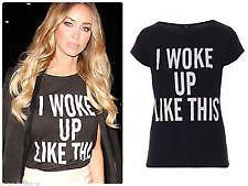 Beyonce I Woke Up Like This T Shirt Size 14 Fan Tee Flawless | eBay