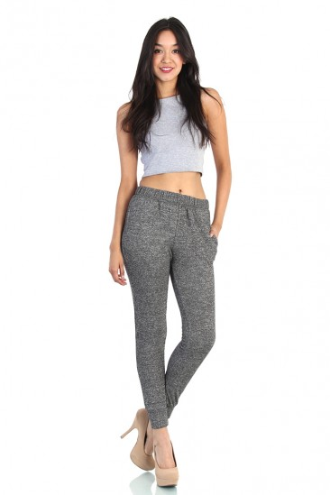 LoveMelrose.com From Harry & Molly | French Terry Sweatpants - Washed Gray
