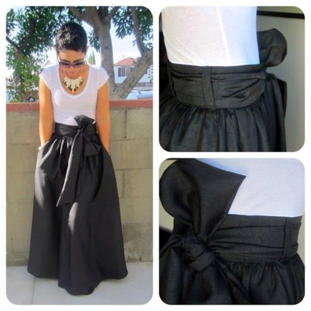 skirt maxi skirt black dress