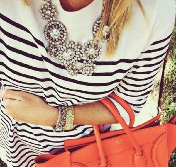 bag orange purse orange statement  clutch statement necklace watch watch bracelets jewels style cute outfits cute dress